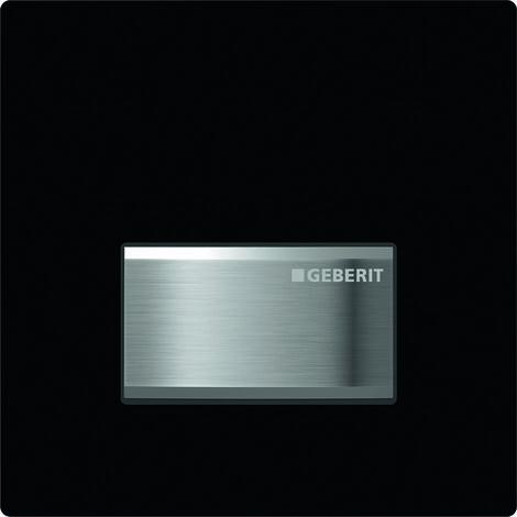 Geberit Urinalsteuerung mit pneumatischer Spülauslösung, Betätigungsplatte Typ 50, Coloris: noir foncé RAL 9005 - 116.016.DW.5