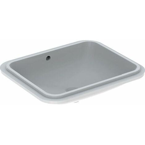 Geberit VariForm Cuvette à encastrer, rectangulaire, 500x400mm, sans trou pour robinet, avec trop-plein, Coloris: Blanc - 500.765.01.2