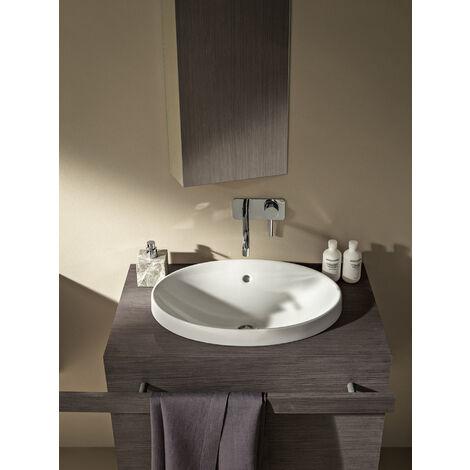 Geberit VariForm lavabo à encastrer ovale, 500x400mm, sans trou de robinet, sans trop-plein, Coloris: Blanc, avec KeraTect - 500.711.00.2
