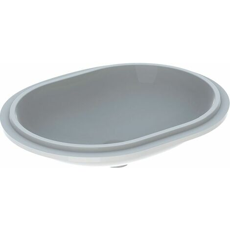 Geberit VariForm Vasque à poser elliptique, 550x400mm, sans trou de robinet, sans trop-plein, Coloris: Blanc, avec KeraTect - 500.759.00.2