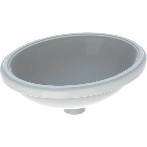 Geberit VariForm Vasque à poser ovale, 420x330mm, sans trou pour robinet, sans trop-plein, Coloris: Blanc - 500.751.01.2