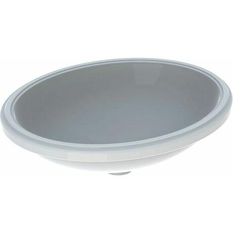 Geberit VariForm Vasque à poser ovale, 500x400mm, sans trou pour robinet, sans trop-plein, Coloris: Blanc, avec KeraTect - 500.755.00.2