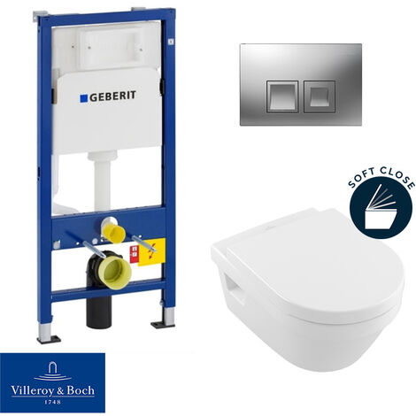 Geberit / Villeroy & Boch pack bâti-support UP100 + plaque Delta50 + cuvette Architectura + abattant softclose (ArchitecturaGeberit2)