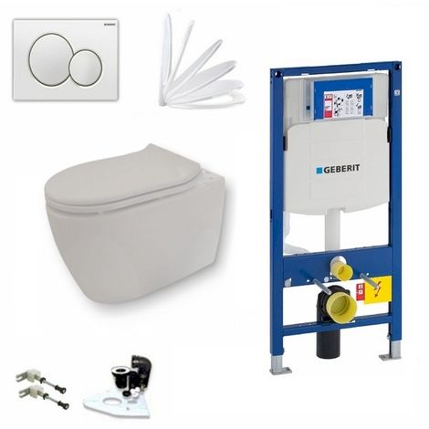 Geberit Vorwandelement + Keramag iCon + Sigma01 + WC-Sitz + Beschichtung