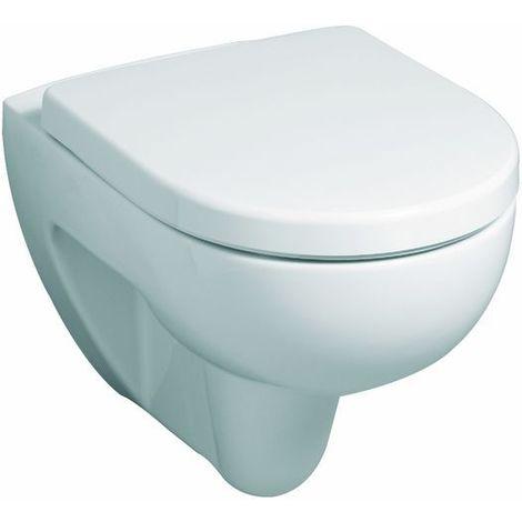 Geberit WC-Sitz 573075000 RENOVA Nr. 1 Plan Scharniere: Edelstahl weiß