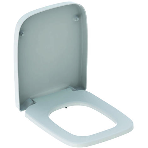 Geberit WC-Sitz Renova Nr. 1 Plan weiß Absenkautomatik, Duroplast, Toilettensitz