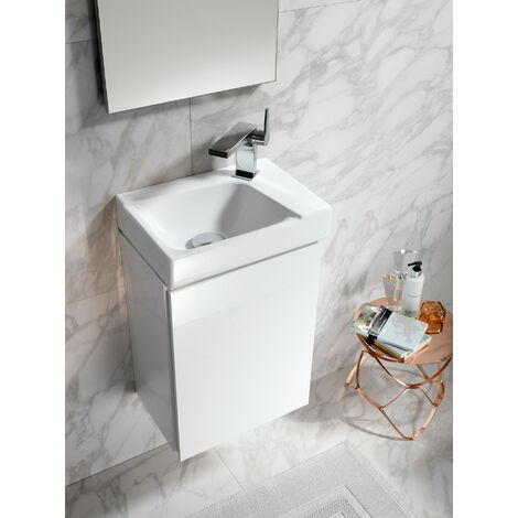 Geberit Xeno 2 Lavabo lavabo 500.502. 380x525x265mm, 1 puerta, color: Laca mate grisácea - 500.502.00.1