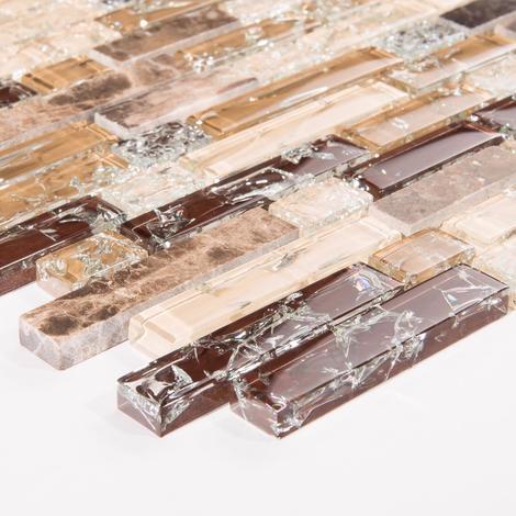Sehr 10cm x 10cm Muster. Gebrochen Glas und Marmor Naturstein Mosaik AA22