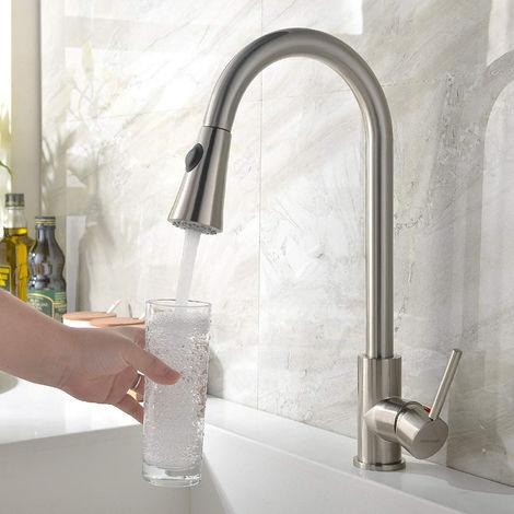 Ausziehbar Küchenarmatur 360° Brause Wasserhahn Spültischarmatur Mischbatterie