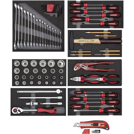 Gedore red Ensemble d'outils - en modules mousse, rouge, 81 pièces - 3301655
