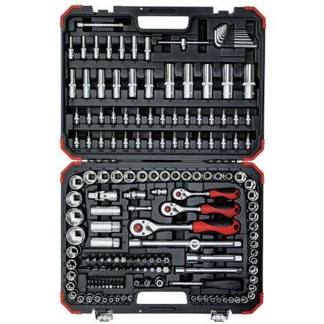 """Gedore RED R45603172 - Juego de llaves de vaso 1/4"""" + 3/8"""" + 1/2"""" - 172 piezas"""