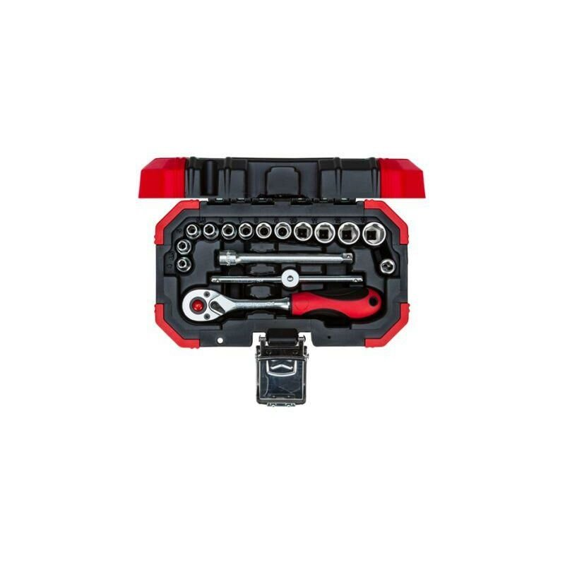 Image of Red R49003016 1/4 Drive Socket Set 4-13mm 16pcs - Gedore