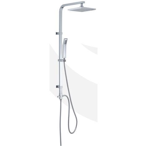 GEDY - Colonne de douche extensible « STAR 01 », avec pommeau de douche et douchette à main de forme carré (code GYSC10201)