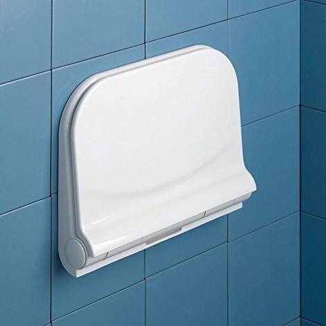 Gedy Dino - Asiento abatible para ducha, color blanco