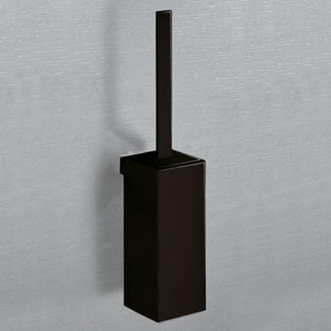 - Gedy Lounge - Porte brosse de toilette - Avec support mural - Aluminium – Noir (code 5433-03-14)