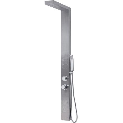 - Gedy - Panneau de douche multifonction Cascade PLUS 00 avec mitigeur thermostatique – finition inox brossé - (code GYSP10300)