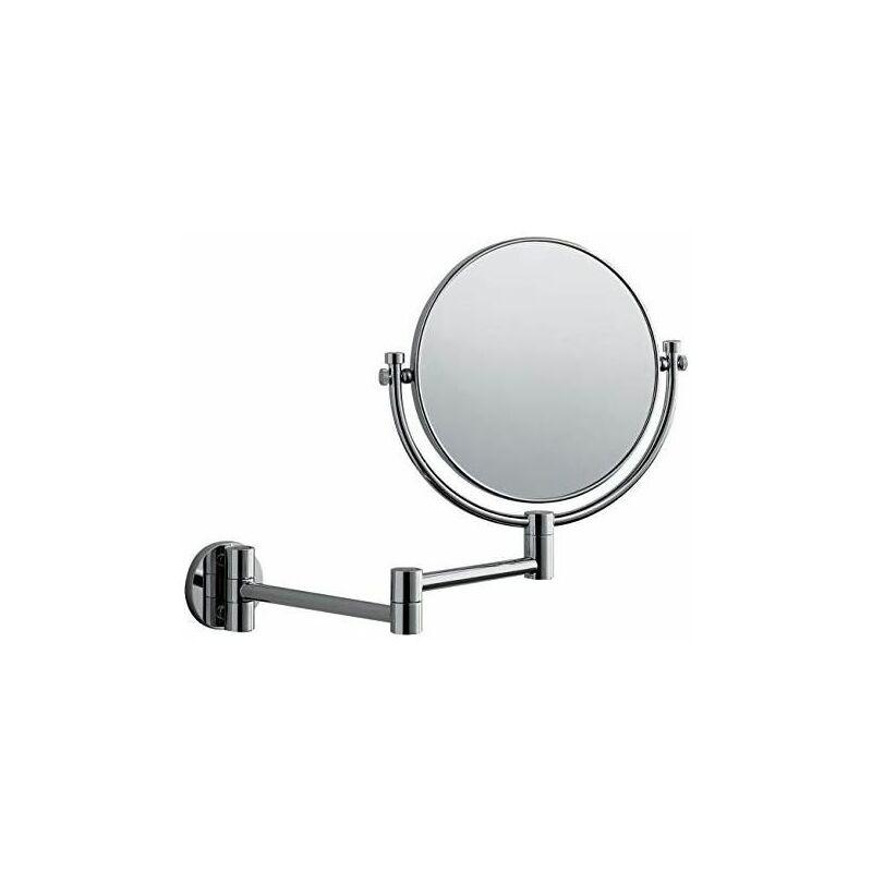 6x9inch GEDHH 3X Ingrandito Monte Muro Specchio Ingranditore,Rettangolare Cromo Lucido Specchio Vanit/à,Girevole Estensibile Specchio Bagno Silver 14x22cm