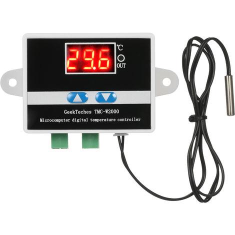 Geekteches Tmc-W2000 Ac110-220V 1500W Thermostat De Controleur De Temperature Numerique Lcd
