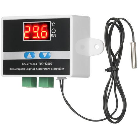 Geekteches Tmc-W2000 Dc12V 120W Thermostat De Controleur De Temperature Lcd Numerique