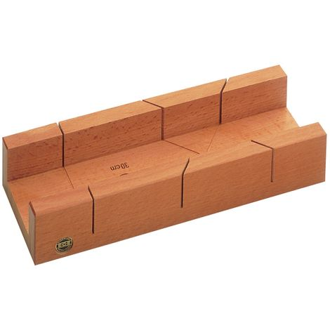 Gehrungsschneidlade 400 400x80x60mm Rotbuchenholz ECE lackiert