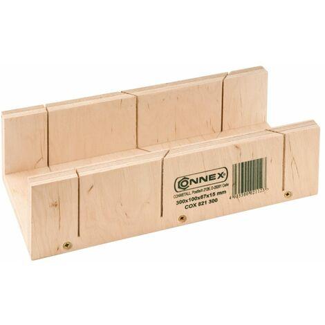 Gehrungsschneidlade Mehrschicht-Holz 300 x 100 x 67 mm