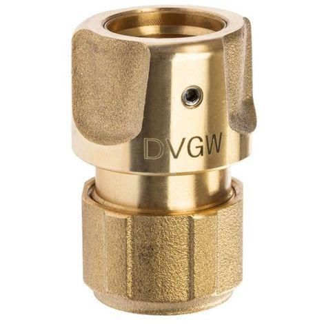 GEKA® plus Trinkwasser Schlauchstück 1/2 Zoll - 13 mm Messing DVGW VP550