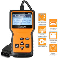 Geker? Outil de Diagnostic Voiture OBD2 Universel Lecteur de Code Valise Diagnostique Auto Scanner Diagnostic OBDII Support Fran?ais