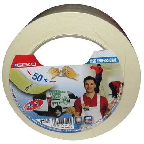 GEKO - Adhésif papier masquage pro 50 mm x 50 m