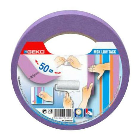 GEKO Masking Tape Delicate surfaces 25mm - 50m - Lilac