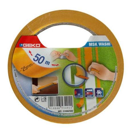 GEKO Masking Tape Precision 25mm - 50m - Yellow