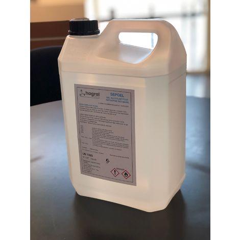 Gel hydro-alcoolique Bidon de 5l SEPGEL HAGRAL