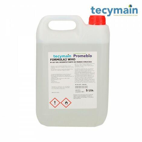 Gel hydroalcoolique 5l tecymain bouteilles de 5l.