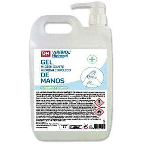 Gel hydroalcoolique désinfectant avec distributeur 1 Ud 5Lt Viribiol