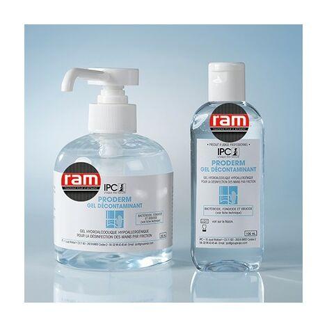 Gel hydroalcoolique Proderm - 300ml - Avec pompe