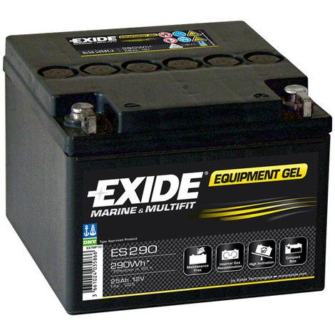 Gel lead acid battery EXIDE Equipment GEL ES290 (290Wh) 12V 25Ah M5-M