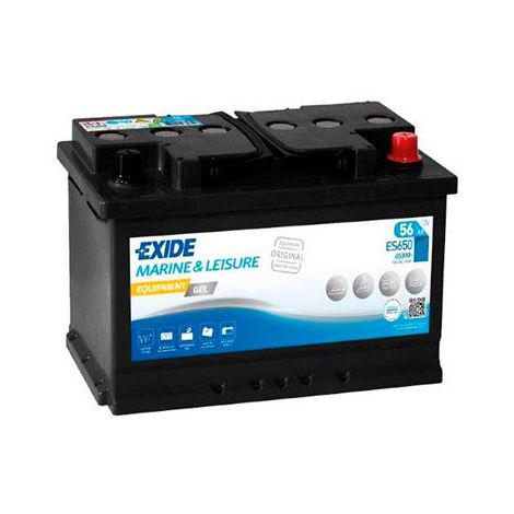 Gel lead acid battery EXIDE Equipment GEL ES650 (650Wh) 12V 56Ah Auto