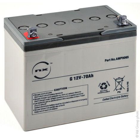 Gel lead acid battery NX 70-12 Cyclic 12V 70Ah M6-M