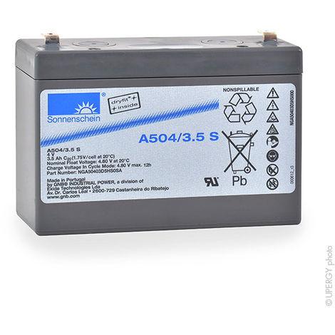 Gel lead acid battery Sonnenschein A504/3.5A 4V 3.5Ah F4.8