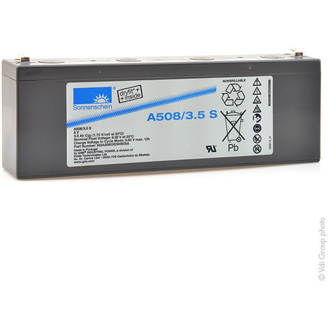 Gel lead acid battery Sonnenschein A508/3.5S 8V 3.5Ah F4.8