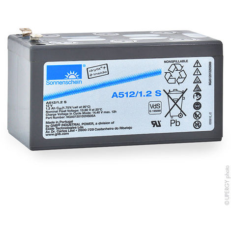 Gel lead acid battery Sonnenschein A512/1.2S 12V 1.2Ah F4.8