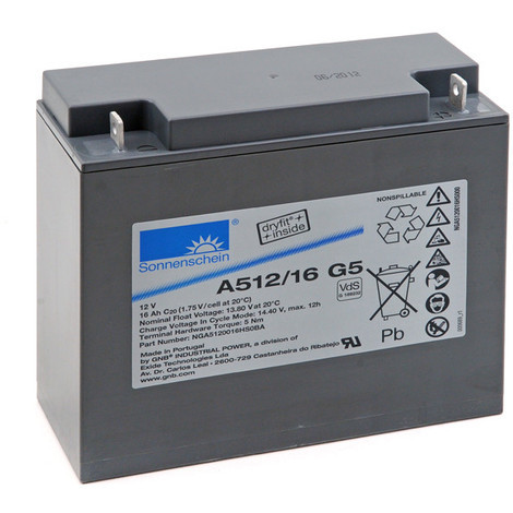 Gel lead acid battery Sonnenschein A512/16 G5 12V 16Ah M5-M