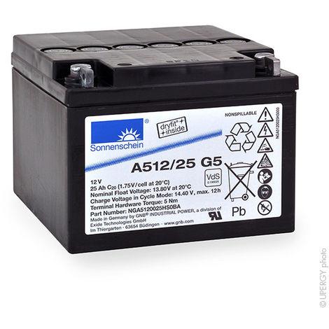 Gel lead acid battery Sonnenschein A512/25G5 12V 25Ah M5-M