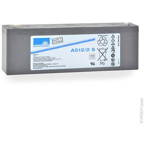 Gel lead acid battery Sonnenschein A512/2S 12V 2Ah F4.8