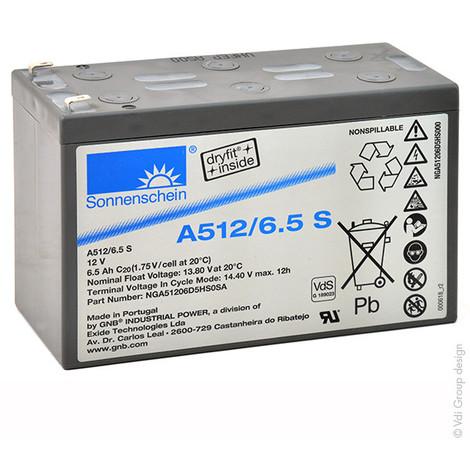 Gel lead acid battery Sonnenschein A512/6.5S 12V 6.5Ah F4.8