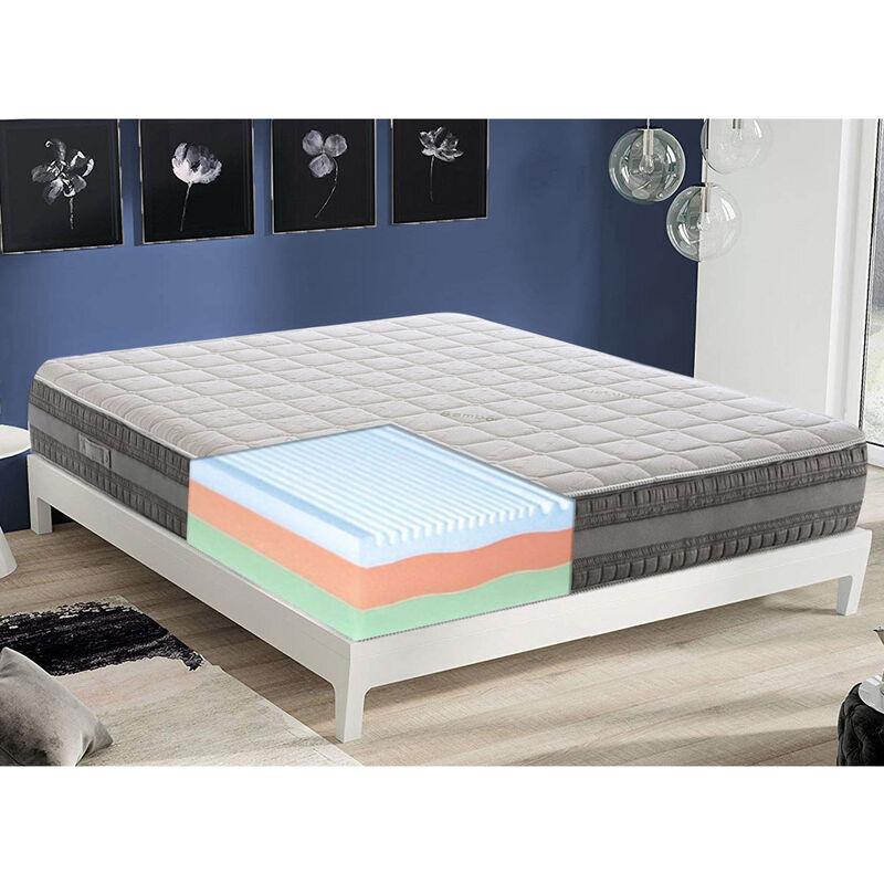 Gel Memory foam Matratze 140x200cm mit 3 Schichten und abziebahren Bezug - MATERASSIEDOGHE