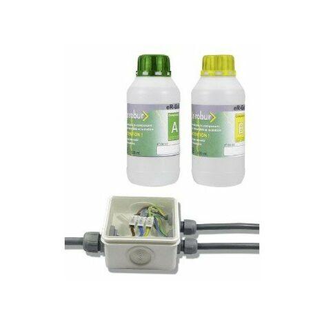 Gel silicone bi-composant étanchéité isolation pour boîtiers dérivation