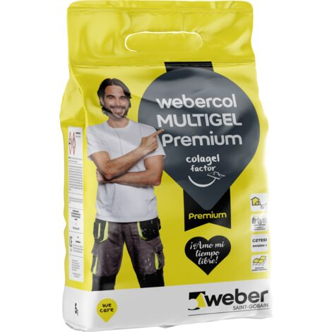 Gel superadhesivo flexible multiusos - webercol multigel PREMIUM 5kg