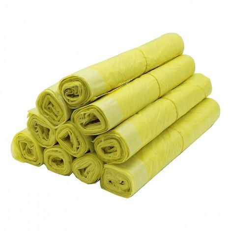 Gelber Sack 11480, 130 Stück, 10 Rollen im Karton, 90 L, 15 µm
