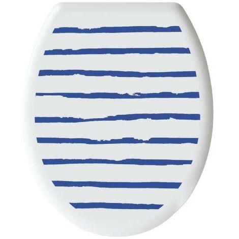 "main image of ""GELCO DESIGN Abattant WC - Charnieres plastique - Polypropylene - Motif marin - Bleu majorelle"""