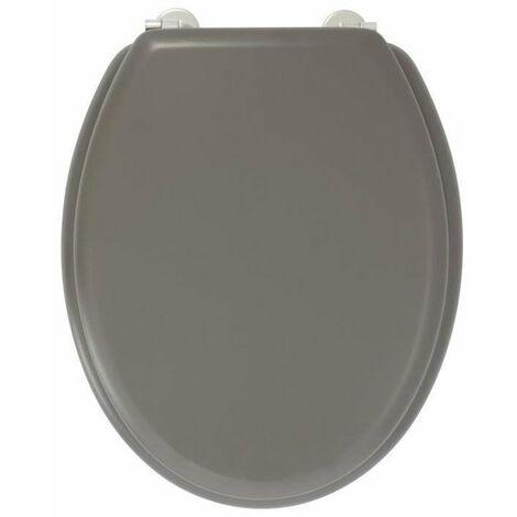 GELCO DESIGN Abattant WC Dolce - Charnieres inox - Bois moulé - Noir carbone